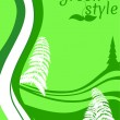 Green style ecology concept — Vector de stock #22088645