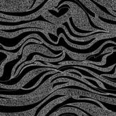 Černé a bílé vzor bezešvé s horizontální tvarové linie — Stock vektor