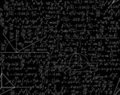 Beautiful mathematical seamless pattern with equations, plots and geometrical figures. You can use any color of background. — Stockvektor