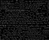 Beautiful chemistry seamless pattern — Stock Vector