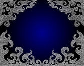 Beautiful blue ornamental vector frame — Stock Vector
