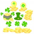 Set of the beautiful vector elements for St. Patrick's day — Stock Vector