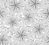 Beautiful vector seamless pattern with flowers — Stock Vector