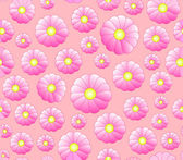 Beautiful rose colored vector seamless pattern with pink flowers — Stock Vector