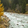 Autumn Landscape with mountain river — Stock Photo #37579795