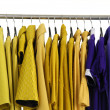 Clothing on hangers — Stockfoto