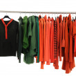 Fashion clothing rack display — Stockfoto