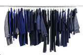 Clothing hanging as display — Stock Photo