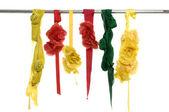 Silk and satin dangle — Stock Photo