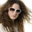 Girl in sunglasses - Stok fotoğraf