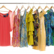 Fashion clothing rack display - Stok fotoğraf