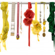 Silk and satin dangle — Stock Photo