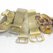 Gold belts — Stock Photo