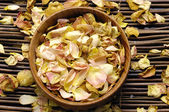 Bowl of rose petals — Stock Photo