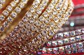Golden fashion bracelets — Stock Photo