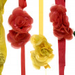 Flower made of silk  — Stock Photo