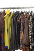 Fashion clothing hanging — Stock Photo