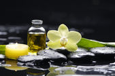 Spa still with orchid flower — Stock Photo