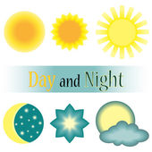 Day and night vector icon — Stock Vector