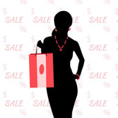 Sale and shopping — Stock Vector