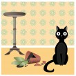Stock Vector: Naughty cat2