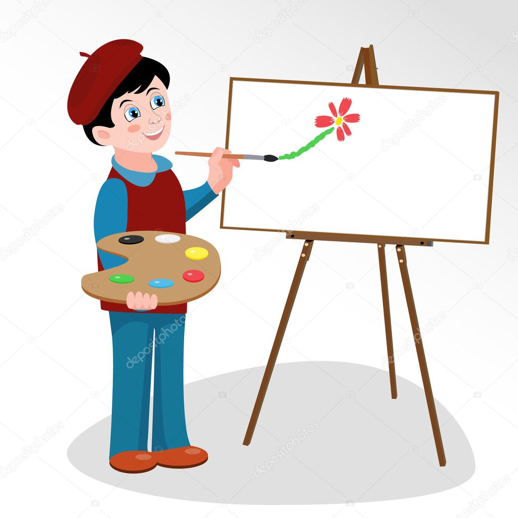 Детские рисунки который рисовал художник