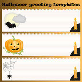 Halloween greeting templates — Stock Vector