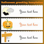 Halloween greeting templates with text — Stock Vector