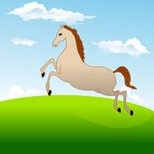 Alanın karşısındaki en hızlı at dörtnala — Stok Vektör
