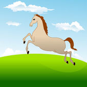 Fastest horse gallops across field — Cтоковый вектор