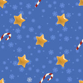 Seamless Christmas pattern with stars — Stock Vector
