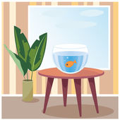 Goldfish in aquarium — Stock Vector