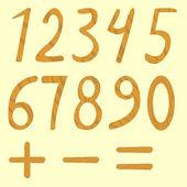 Set of numbers from zero to nine — Stock Vector