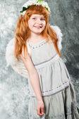 Little girl in a dress — Stock Photo