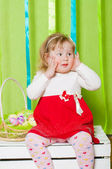 Little girl in a beautiful dress — Stock Photo