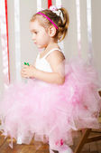 Baby girl in lush color skirt — Foto Stock