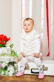 Baby girl in a fashionable suit — Stock Photo