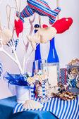 Decoration on the marine theme with seashells — Stock Photo