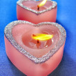 Stock Photo: Heart shaped candle
