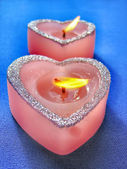 Heart shaped candle — Stock Photo