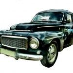 Black retro car — Stock Photo #25091867