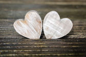 Two wooden hearts — Photo