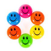 Colorful smileys — Stock Photo