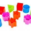 Various coloured blocks for shape sorter toy isolated — Stock Photo #45185609