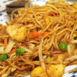 Stock Photo: Plate of chicken chow mein