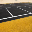 Stock Photo: Newly painted parking lot