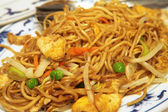 Plate of chicken chow mein — Stock Photo