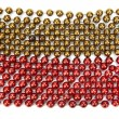Red and Gold Christmas decorative beads — Stock Photo #22097533