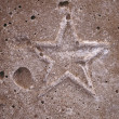 Star shaped pattern in cement tiles — Stock Photo
