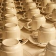 Cups and saucers — Stock Photo #22091113